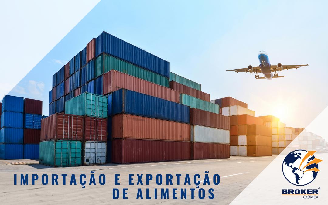 Importação e exportação de alimentos no Brasil