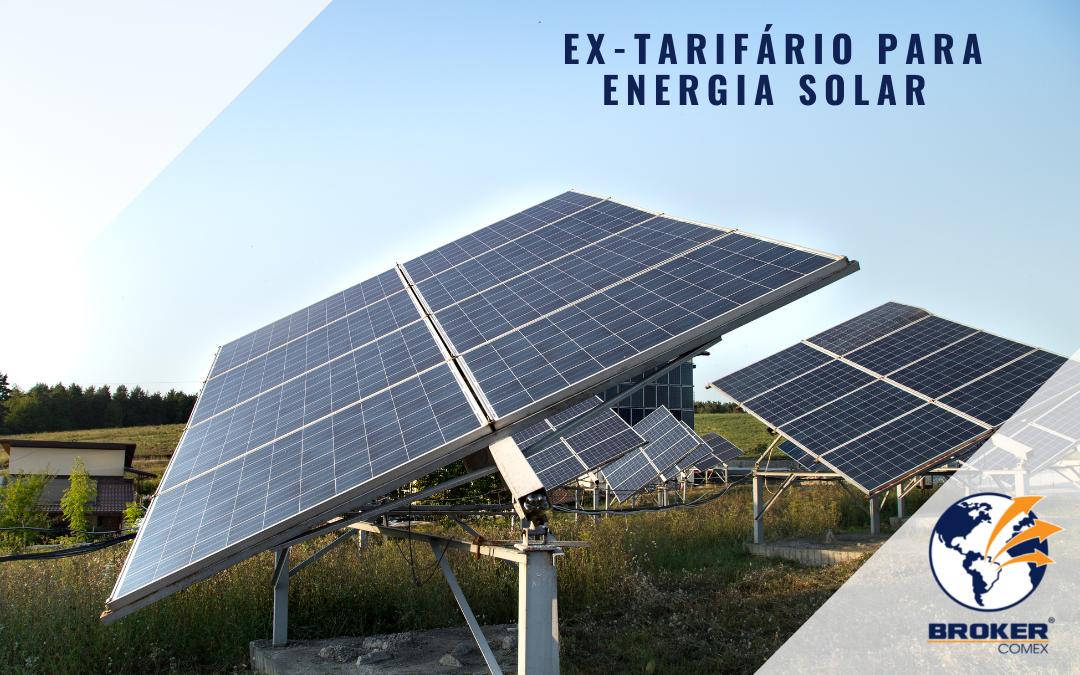 Como solicitar ex-tarifário para energia solar?